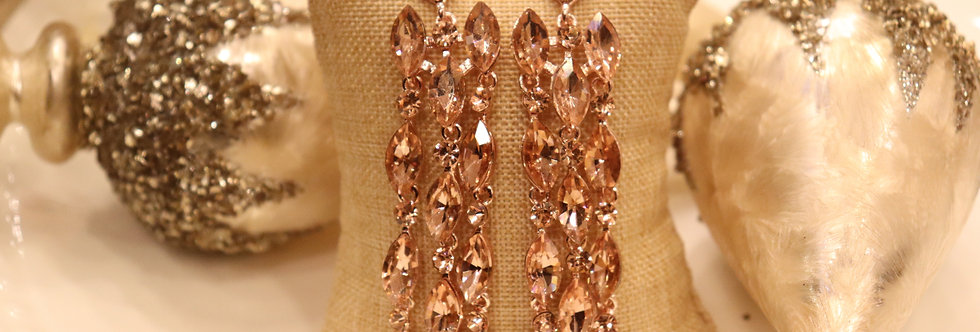 Rose gold earrings chandelier