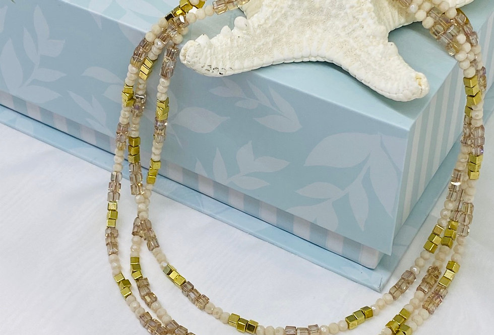 Starfish layer necklace Starfish Necklace, Gold Starfish Necklace - Bridesmaid,