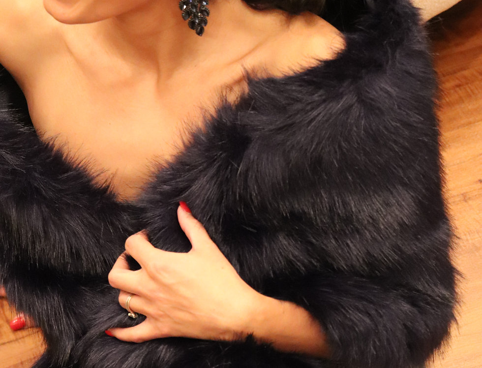 Blush / Beige / Light Brown Faux Fur Wrap Faux Fur Stole Nude Bridal Fur Shawl