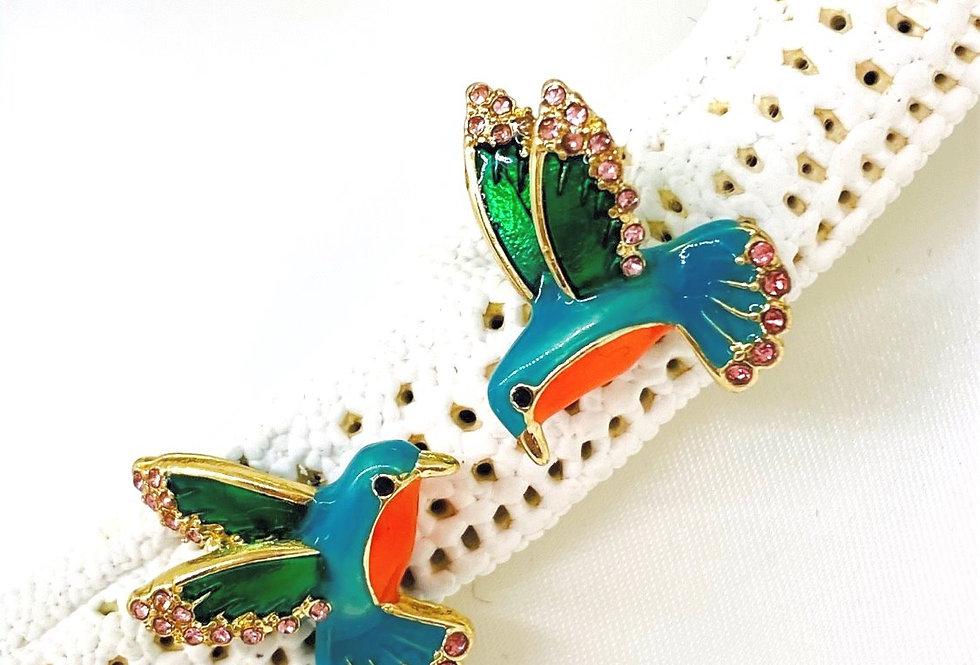 Hummingbird earrings Vintage