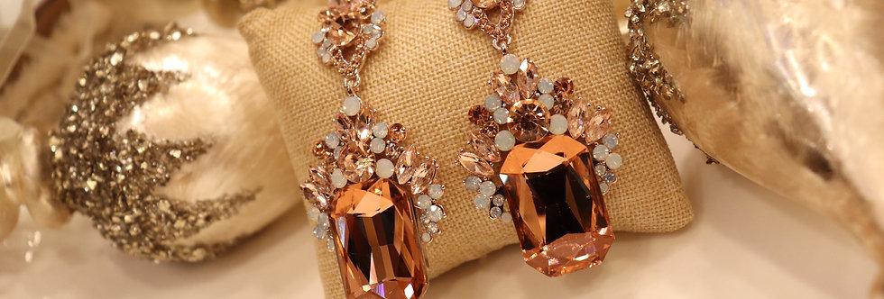Rose Gold Earrings Chandelier