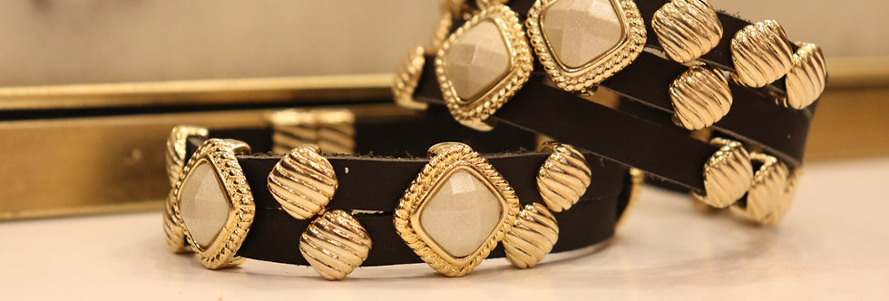 LEATHER BRACELETS WITH STRONG MAGNETIC CLASPS