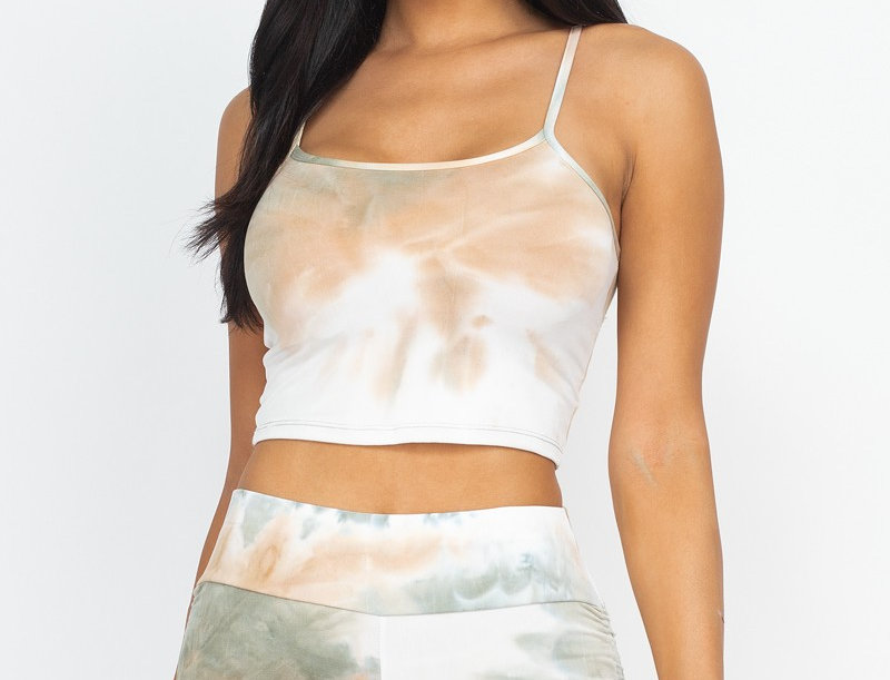 crop top and shorts set - Stretch knit