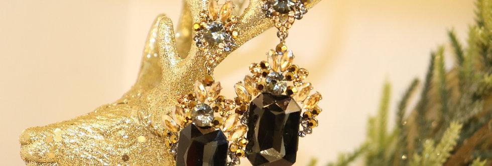 BLACK&GOLD Earrings,Chandelier