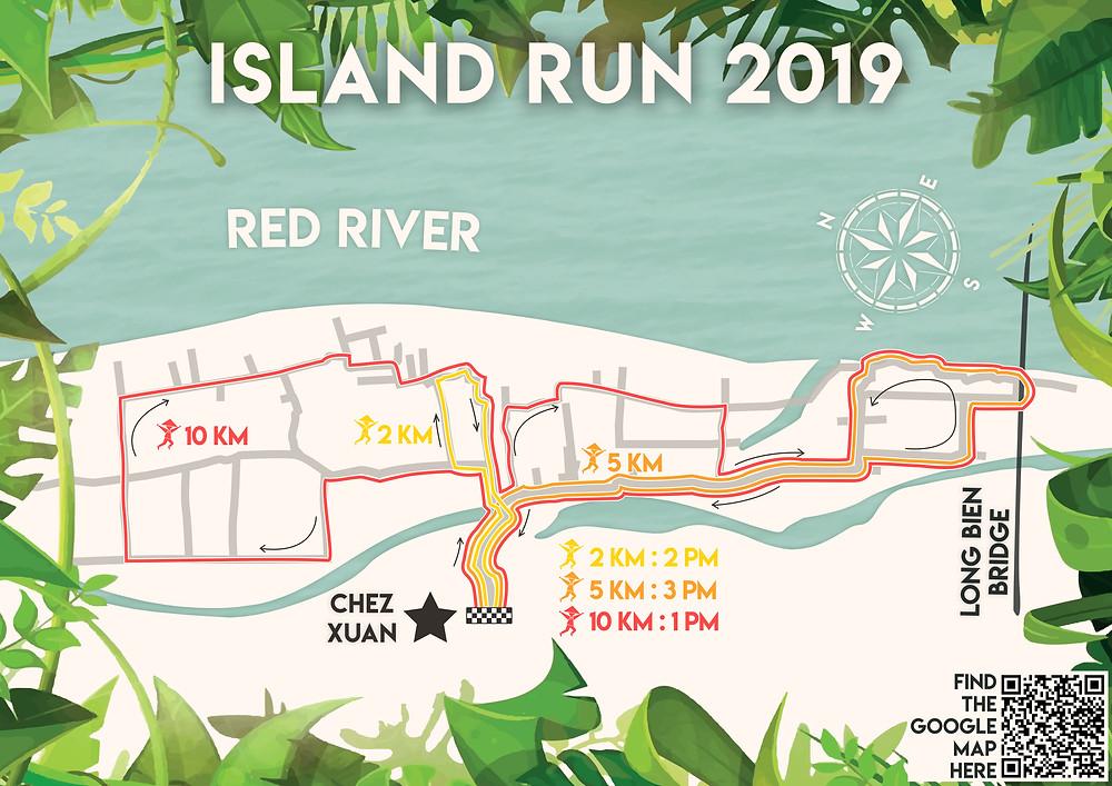 Island Run 2019 paths