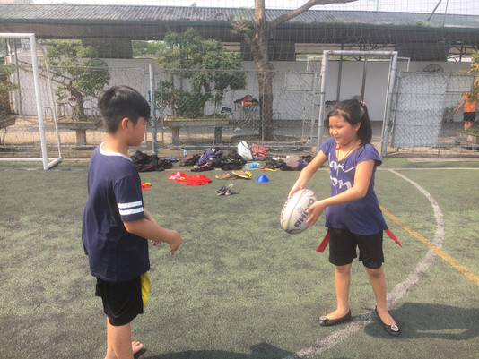 Tag rugby by the sun