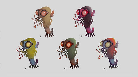 Anthropomorphic Creature Color Thumbnails