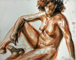 Woman Sitting Relaxed