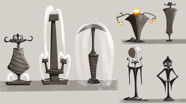 Statues & Columns