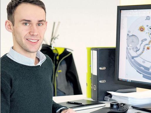 """HTL und Uhrentechnik-Absolvent landete beim Uhrenhersteller """"H. Moser & Cie"""" in der Schweiz"""