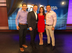 Galvez on set at Univision
