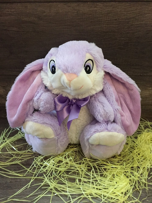 10 inch Sitting Bunny with Custom Name