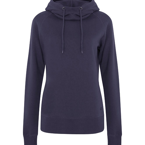 ATC Pro Fleece Funnel Neck Hooded Ladies Sweatshirt - navy