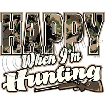 happy when hunting