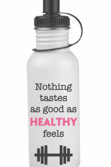 Nothing Tastes (as good as) stainless steel water bottle, white