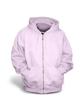 Gildan Youth Full-Zip Hoodie - Light Pink