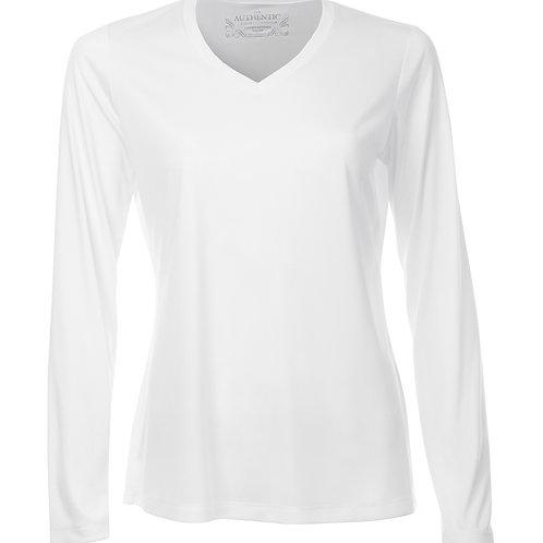 ATC Pro Team V-Neck Long Sleeve Ladies Tee - white