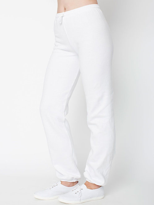 American Apparel Flex Fleece Sweatpants - White