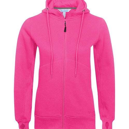 ATC Pro Fleece Full-Zip Hooded Ladies Sweatshirt - raspberry