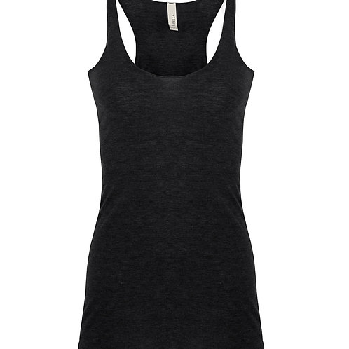 Bella + Canvas Triblend Racerback Tank - charcoal black triblend