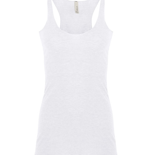 Bella + Canvas Tri-blend Racerback Ladies Tank 8430 white