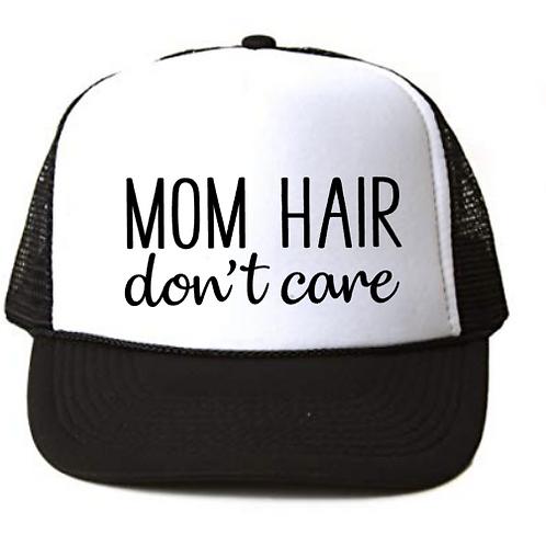 Foam Trucker Hats: MOM HAIR don't care