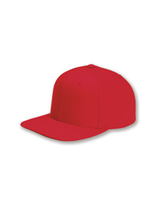 Flat Bill Snapback Hat - Red