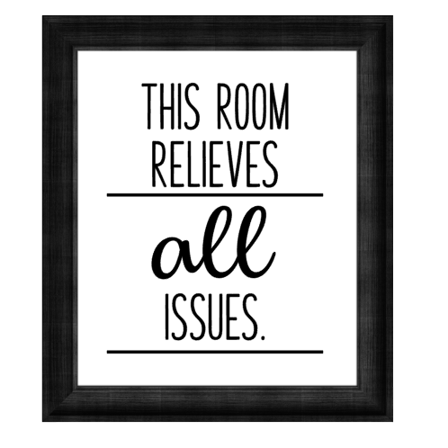 Canvas Sign - This Room Relieves All Issues