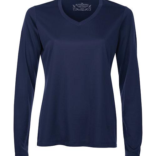 ATC Pro Team V-Neck Long Sleeve Ladies Tee - navy