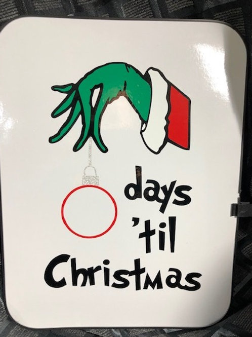 Grinch Countdown to Christmas White Board