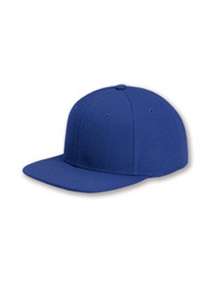 Flat Bill Snapback Hat - Royal Blue