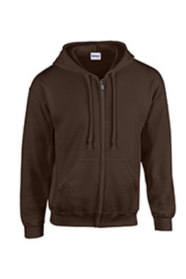 Gildan Full-Zip Hoodie - dark chocolate