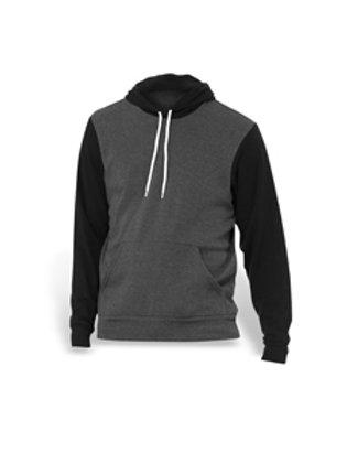 Bella + Canvas Fleece Pullover Hoodie - grey/black