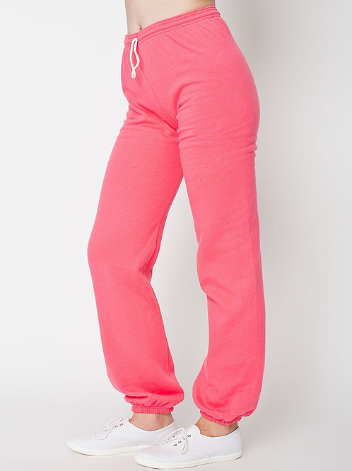 American Apparel Flex Fleece Sweatpants - Pink