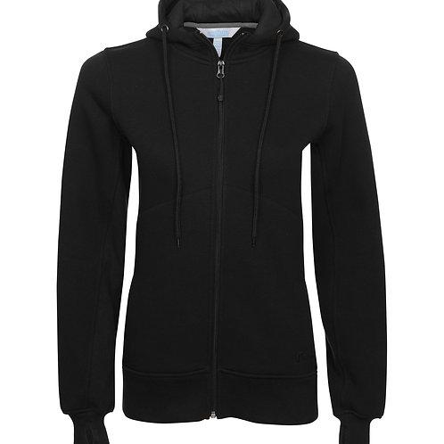 ATC Pro Fleece Full-Zip Hooded Ladies Sweatshirt - black