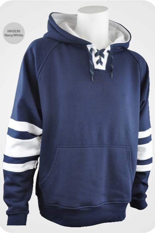 Retro Youth Hockey Hoodie - Navy / White