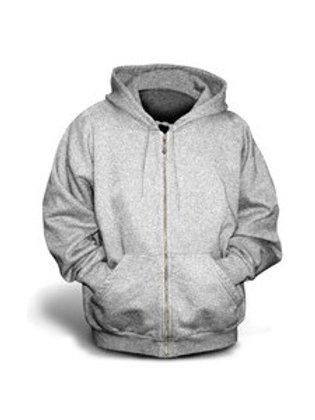 Gildan Youth Full-Zip Hoodie - Sport Grey