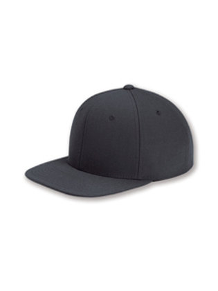 Flat Bill Snapback Hat - Dark Grey