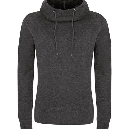 ATC Fleece Funnel Neck Hooded Ladies Sweatshirt