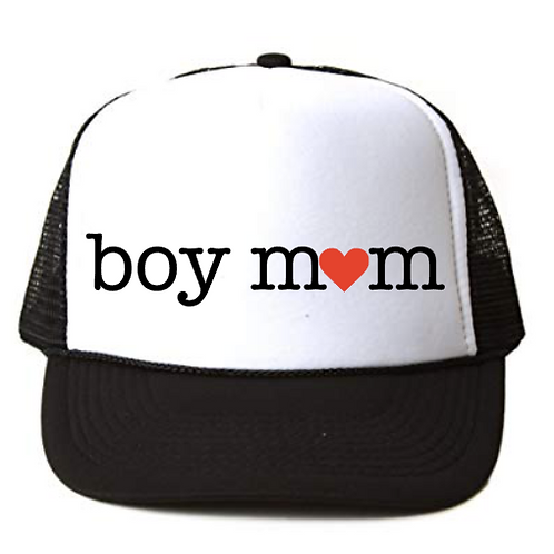 Foam Trucker Hats: Boy Mom