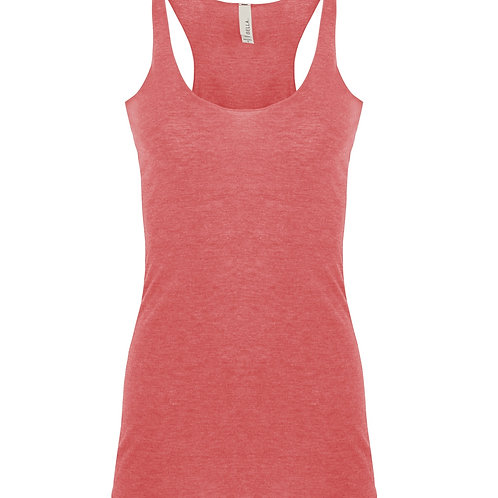 Bella + Canvas Triblend Racerback Tank - red triblend