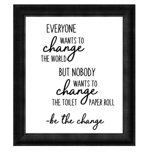 Canvas Sign - Everyone Wants To Change The World