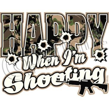 happy when shooting