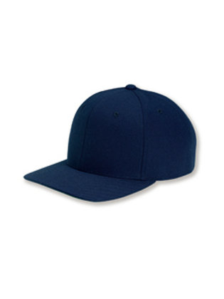 Flat Bill Snapback Hat - Navy Blue