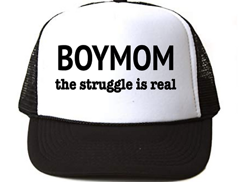 Foam Trucker Hats: BOYMOM the struggle is real