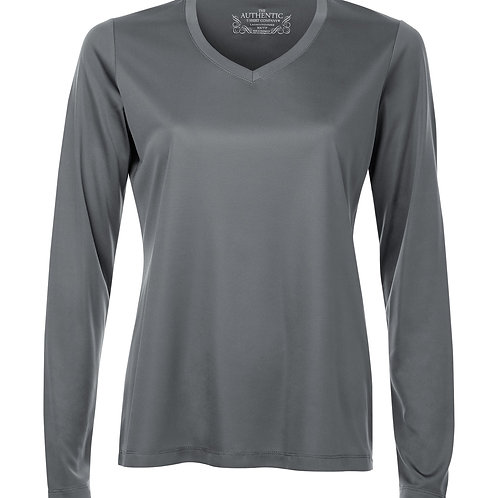 ATC Pro Team V-Neck Long Sleeve Ladies Tee - coal grey