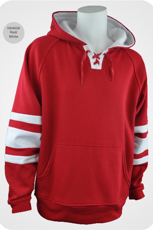 Retro Youth Hockey Hoodie - Red / White