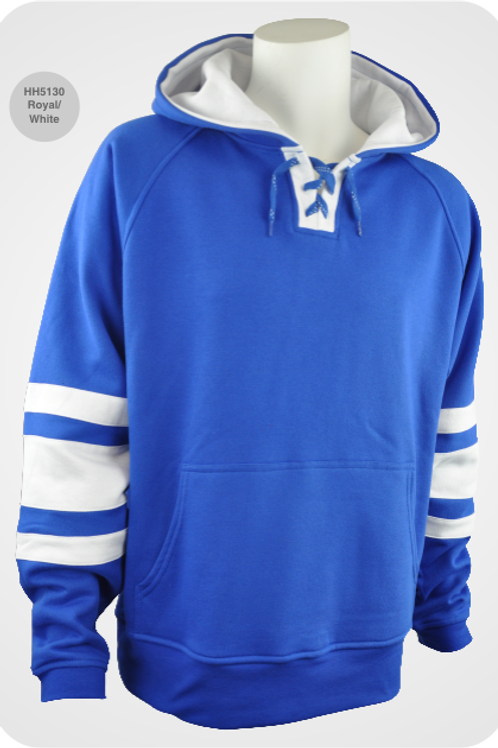Retro Youth Hockey Hoodie - Royal / White