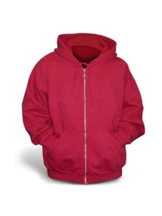Gildan Full-Zip Hoodie - red