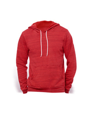 Bella + Canvas Fleece Pullover Hoodie - red